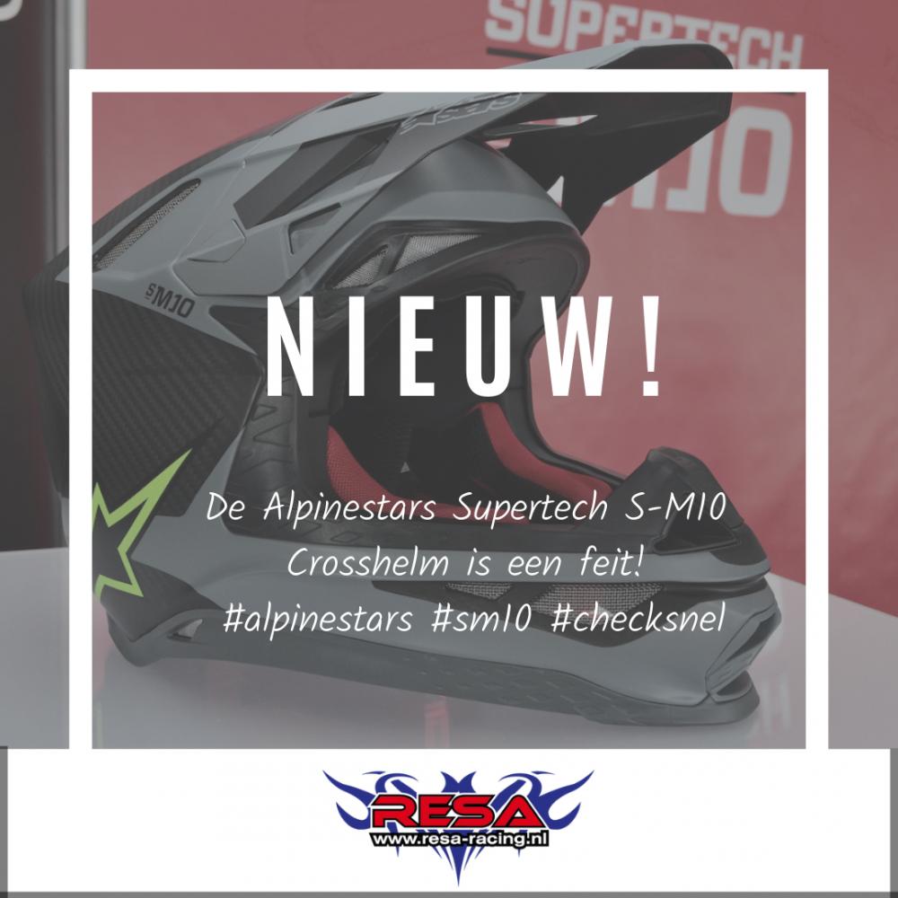 Nieuw: de S-M10 crosshelm van Alpinestars