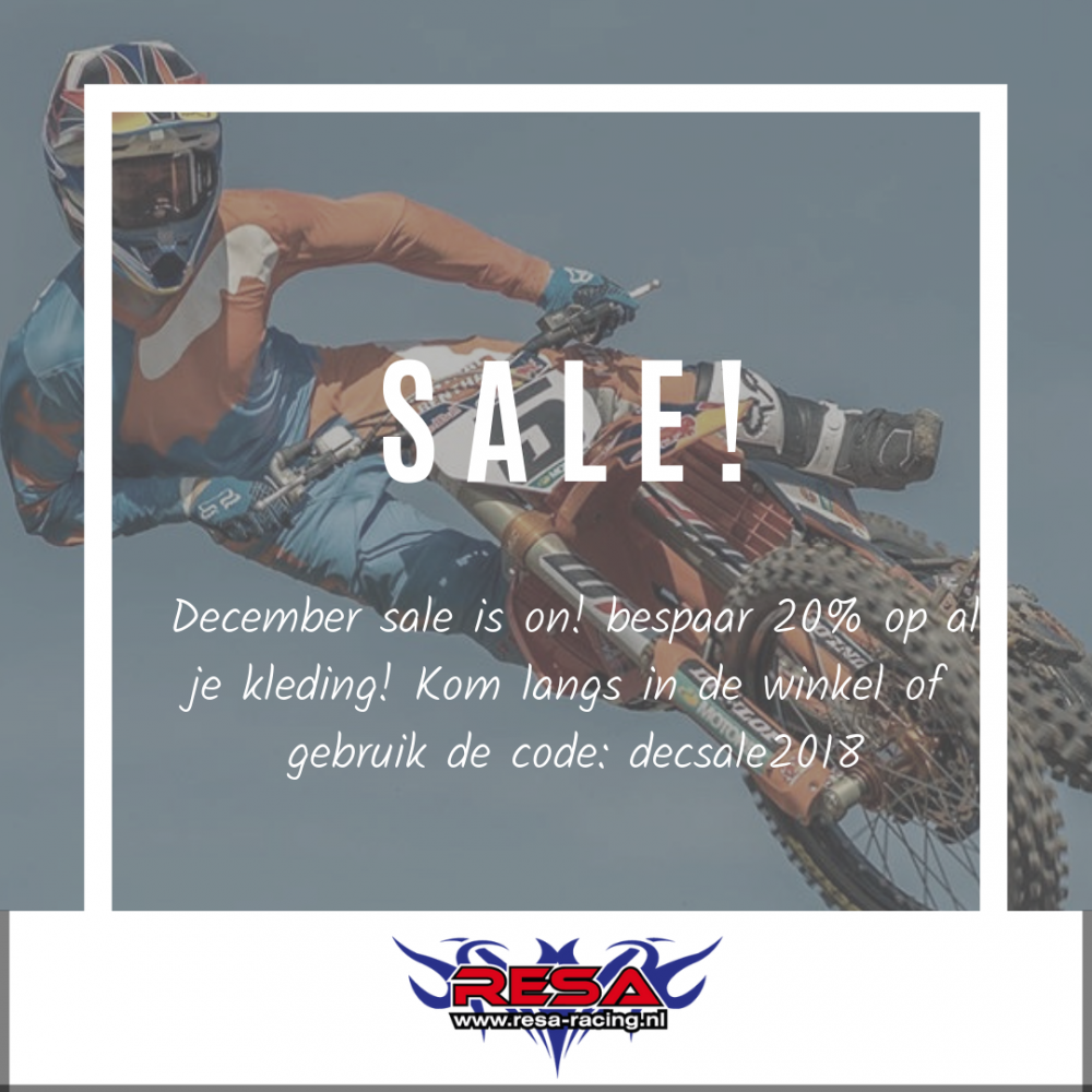 December Sale bij Resa-Racing