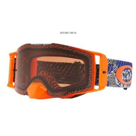 Oakley | Front Line Crossbril  Dazzle Dyno Blauw / Oranje