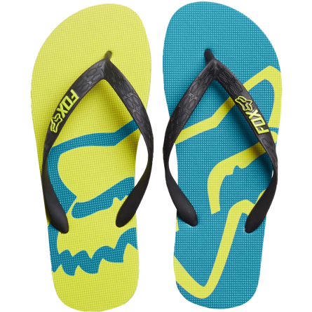 Fox | Beached Slippers Groen / Licht Blauw