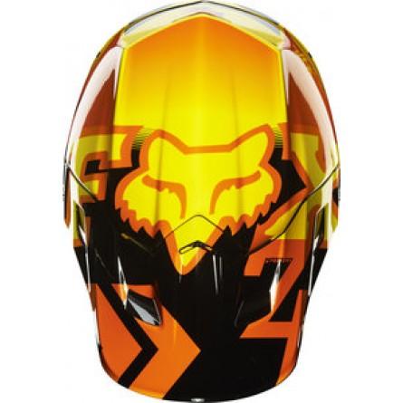 Fox | V2 Anthem Cross Helm Oranje