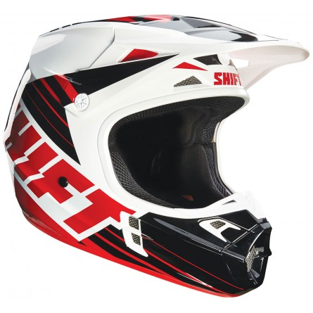 Shift | Assault Cross Helm Zwart / Wit