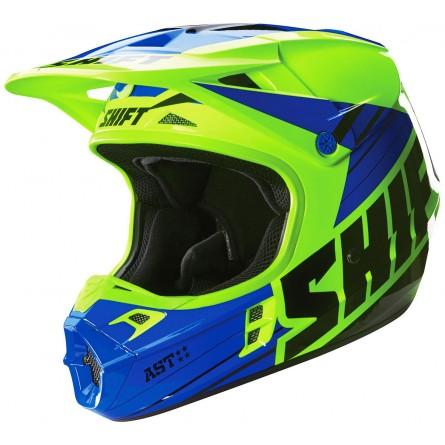 Shift | Assault Race Cross Helm Blauw / Geel