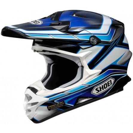 Shoei | VXF-W Crosshelm Capacitor Blauw / Zwart