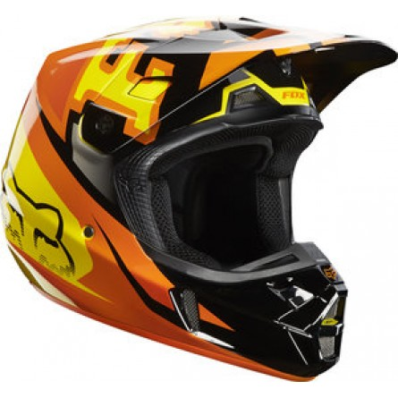 Fox | V2 Anthem Cross Helm Oranje