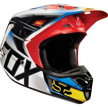 Fox | V2 Race Cross Helm Zwart / Rood