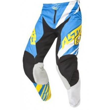Alpinestars | Racer Supermatic Crossbroek Blauw / Wit / Geel
