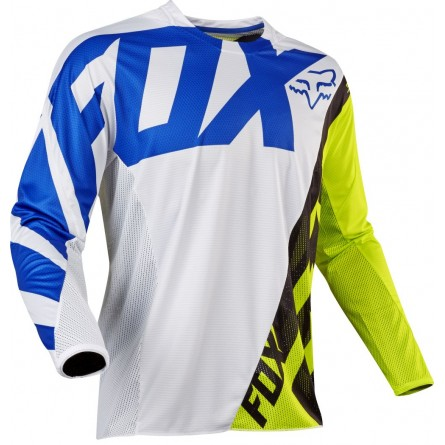 Fox | MX17 Jeugd 360 Creo Cross-Shirt Wit/ Geel
