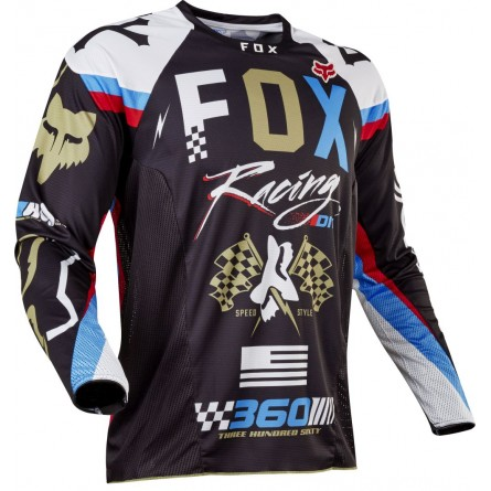 Fox | MX17 360 ROHR Cross-shirt Zwart