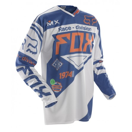 Fox | 360 Intake Cross-shirt  Blauw / Wit