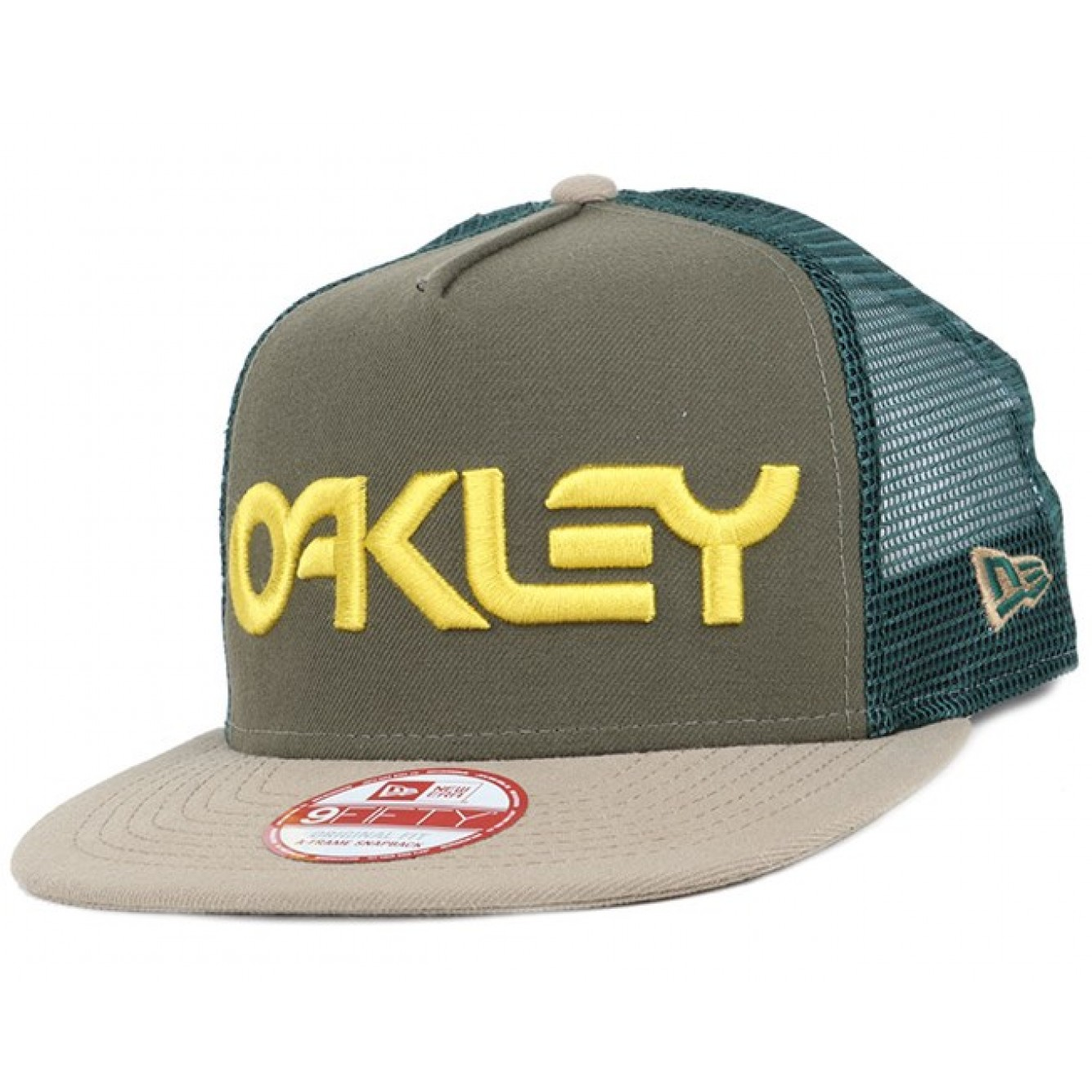cheap oakley factory pilot trucker mesh snapback dark brush 33197 56d1c caf0e0581f5