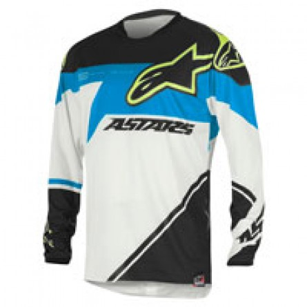 Alpinestars | Racer Supermatic Cross-Shirt Blauw / Aqua / Wit