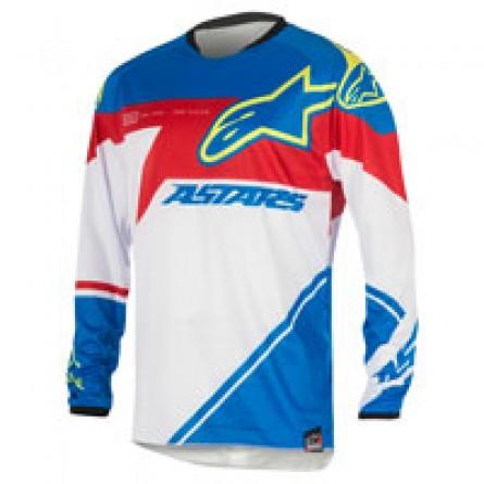 Alpinestars | Racer Supermatic Cross-Shirt Blauw / Rood / Wit