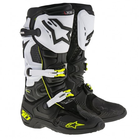 Alpinestars | Crosslaarzen Tech 10 Zwart/ Wit