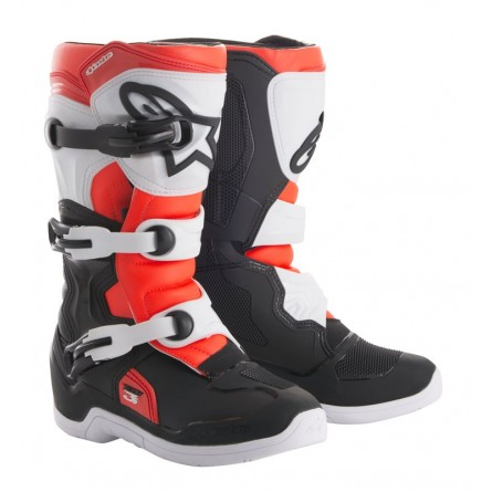 Alpinestars | Crosslaarzen Tech 3S KIDS Rood / Zwart / Wit