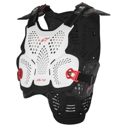Alpinestars | A-4 Body Protector Wit/ Zwart/ Rood