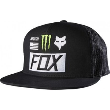 Fox | Monster Pro Circuit Paddock Snapback Pet | Zwart