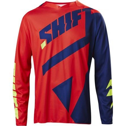 Shift | 3lack Mainline Cross-Shirt Navy / Rood